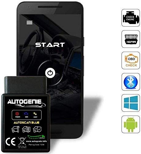 bestbeans Autogenie © Das Original ECHTZEIT-Daten am Android Handy Bluetooth OBD2 KFZ Diagnose Smartphone PC Lesen und Löschen Fehlercode und Batterie Test